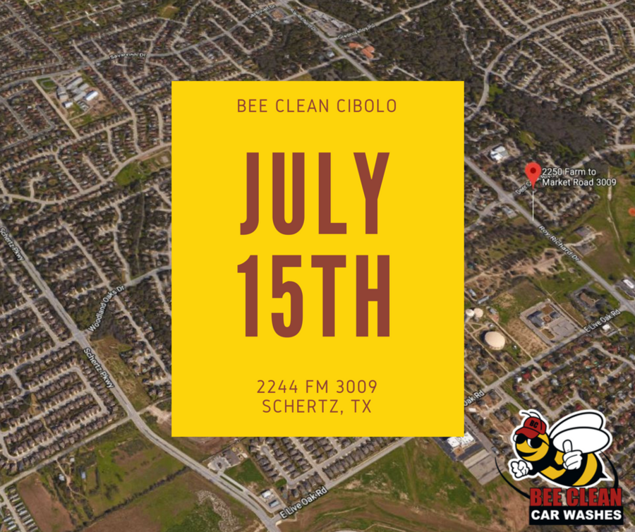 Bee Clean Car Wash New Location Opening in Cibolo/Schertz