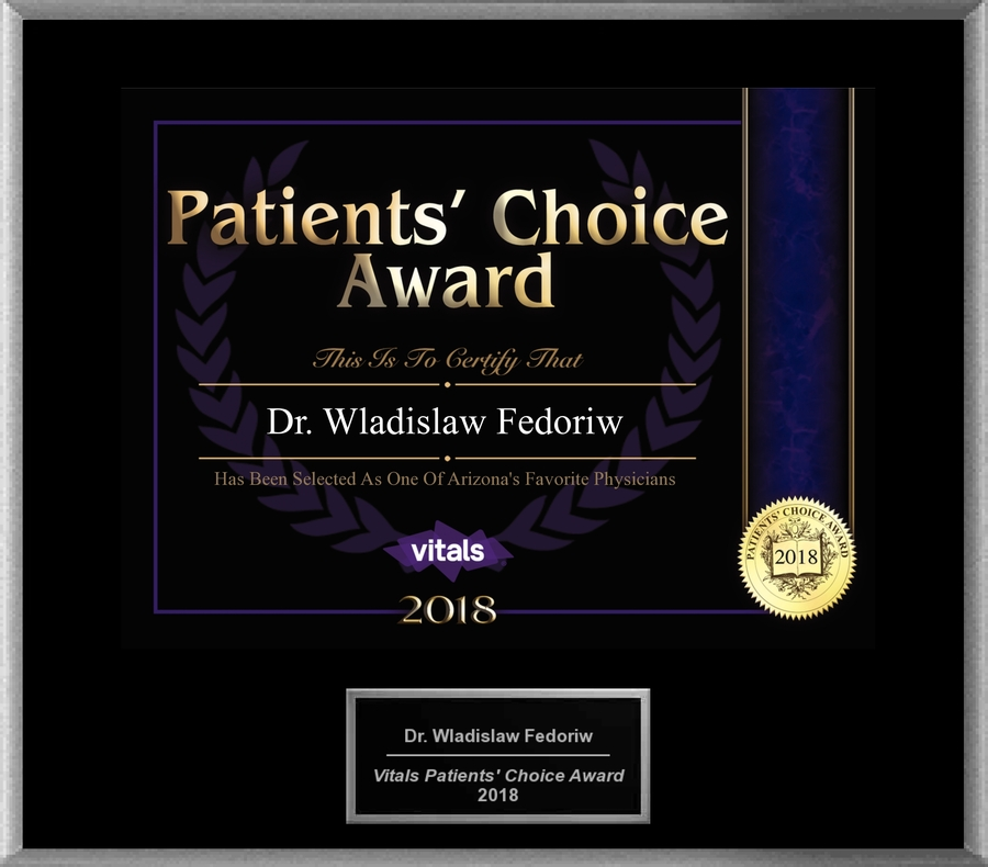 Dr. Wladislaw Fedoriw MD Honored With 2018 Patients' Choice Award