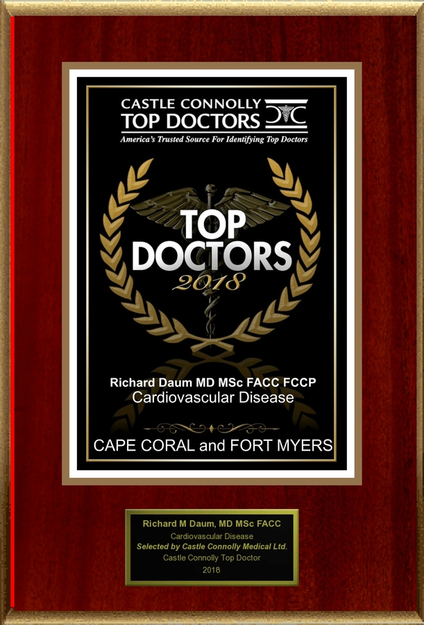 Dr. Richard Daum is Recognized Among Castle Connolly Top Doctors® for CAPE CORAL, FL Region in 2018