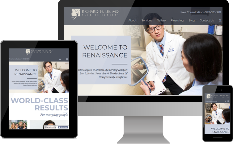 New Website for Richard H. Lee, MD Plastic Surgery Goes Live