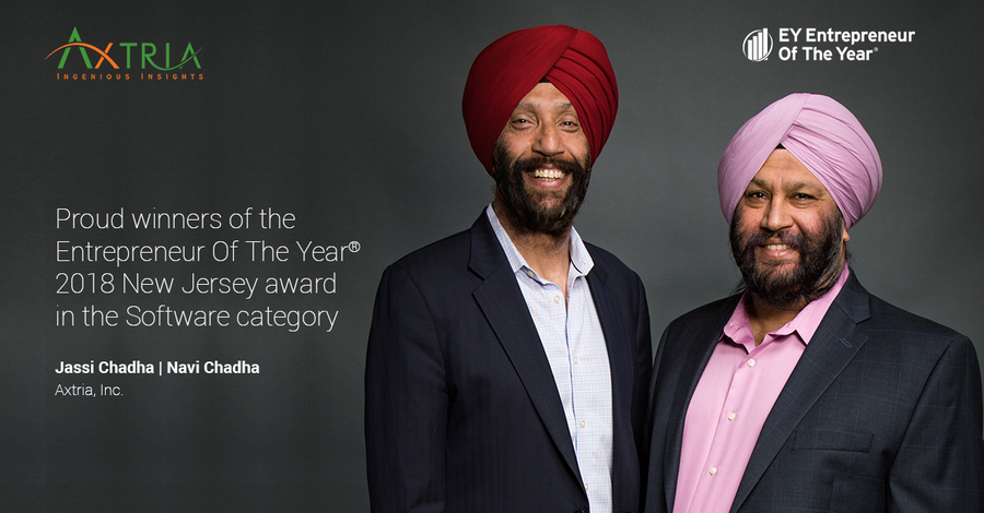 EY Announces Jassi Chadha and Navi Chadha of Axtria® as Entrepreneur Of The Year® 2018 Award Winners