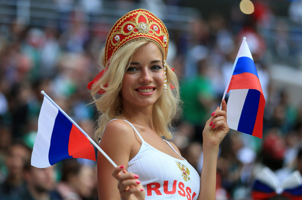Russian Female Football Fans In A League Of Their Own