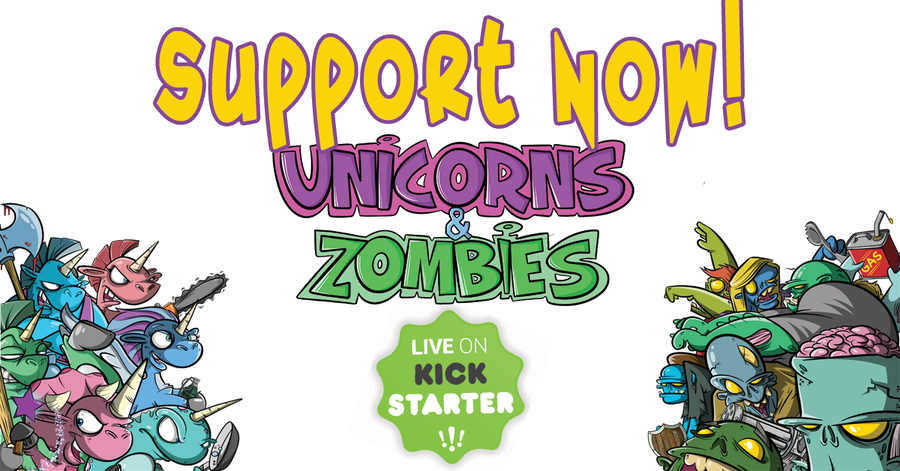 Unicorns and Zombies: Thrilling New Game Launches Kickstarter Campaign