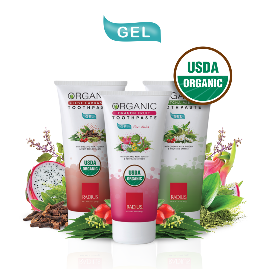RADIUS Launches New USDA Organic Gel Toothpaste