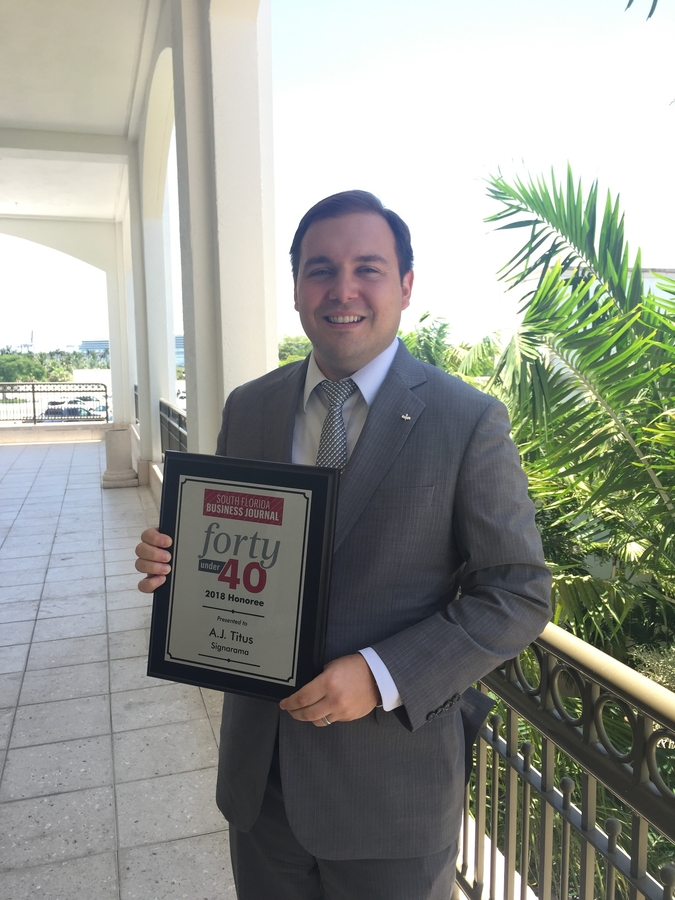 A.J. Titus Recognized by South Florida Business Journal