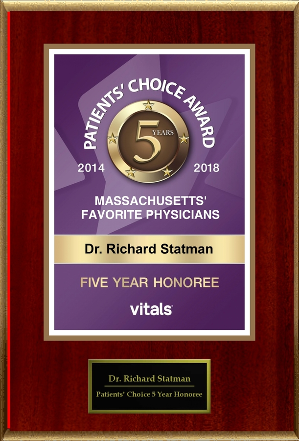 Dr. Richard Statman Honored With Vitals Patients' Choice 5-Year Award