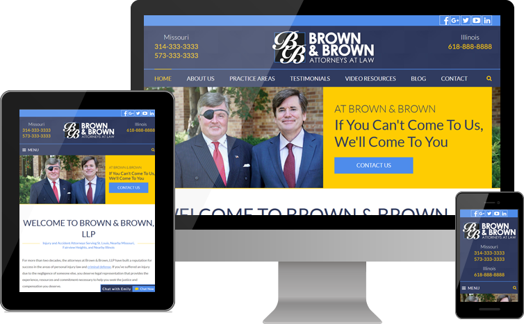 Attorneys at Brown & Brown, LLP Announce Launch of New Website for Personal Injury Clients in Missouri and Illinois