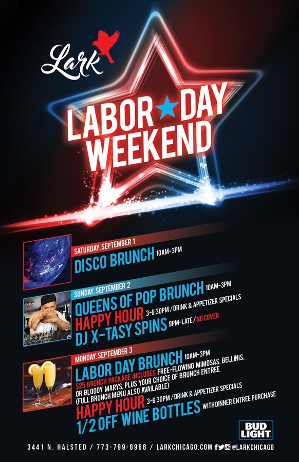 Rock Out Labor Day Weekend at Lark in Chicago's Boystown