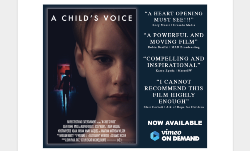 A Child's Voice: Weiyang Li's Inspirational New Film Streaming Soon On Amazon