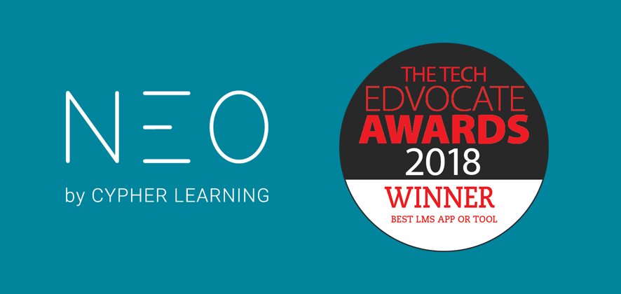 NEO LMS Wins the 2018 Tech Edvocate Award for Best Learning Management System