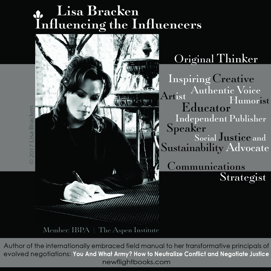 Who is Influencing the Influencers? Introducing – And Making Available for Free Digital Download – The Full Works of Internationally Known Independent Publisher and Author, Lisa Bracken