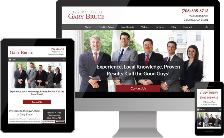 Law Offices of Gary Bruce Launches New Website for Personal Injury Clients in Georgia and Alabama