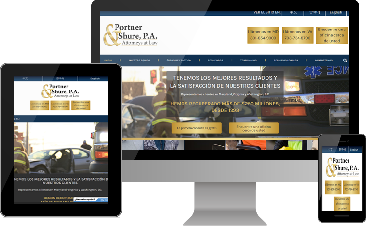 Portner & Shure Launches the Redesigned Signature Website for Hispanic Communities in Maryland, Virginia and Washington, D.C.