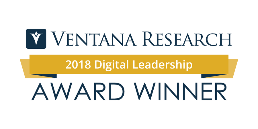 Ventana Research Congratulates the Winners of the 2018 Digital Leadership Awards