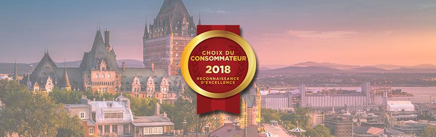 Lauréats du Choix du Consommateur 2018 | Région de Québec