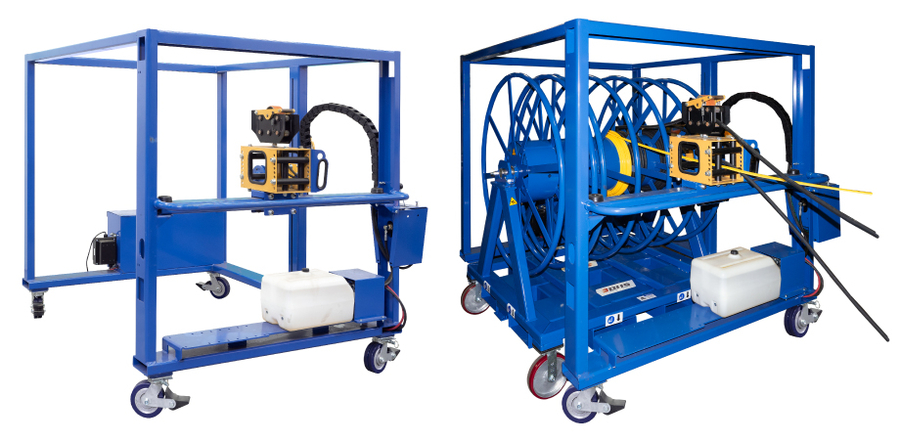 Spool Winding Trolley from BHS, Inc. Fills Reels, Measures Cable Simultaneously