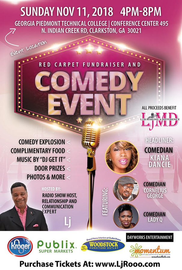 Hottest Names in Atlanta's Comedy Scene to Perform Live at Fundraising Event Helping Families Left Behind