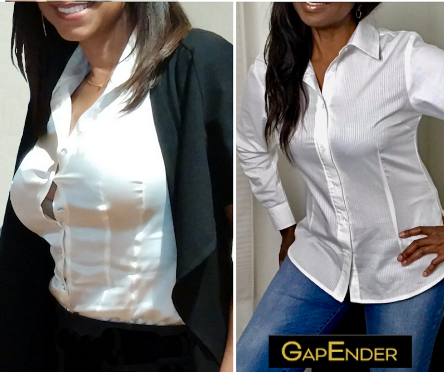 Boob Gaps are a Professional Woman's Nightmare – GapEnder's Innovative Product has the Solution!