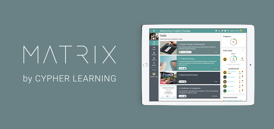 CYPHER LEARNING Releases New Functionalities for the Learning Paths Feature of MATRIX LMS