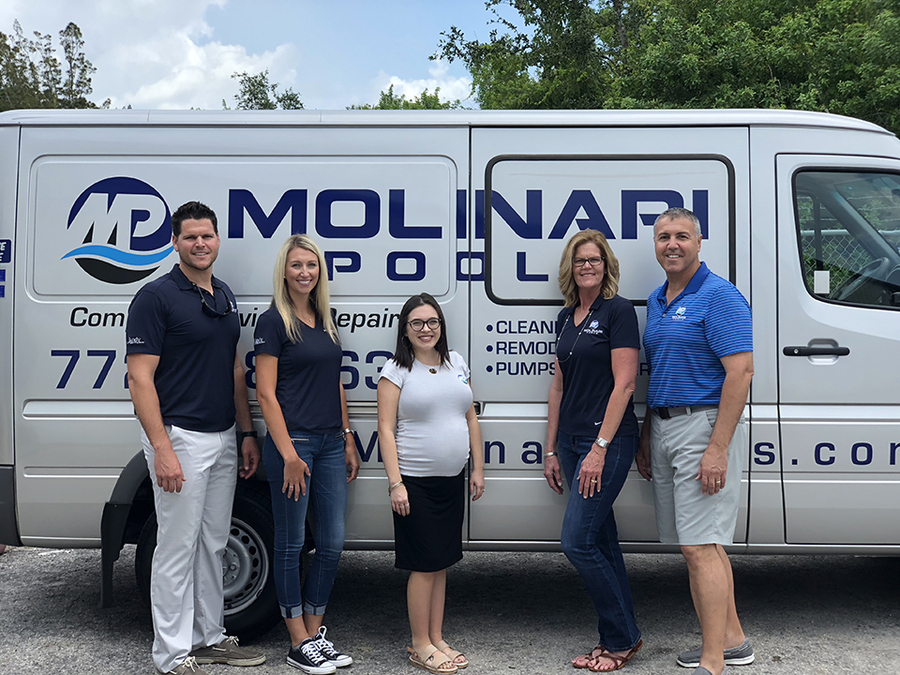 Molinari Pools of Vero Beach, Florida Adds Customer Portal Feature to Compliment The Service Program Software