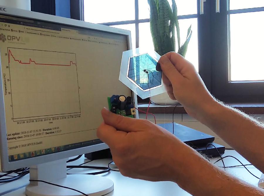 OPVIUS Demonstrates OPV-Based, Stand-Alone IoT Sensor Nodes