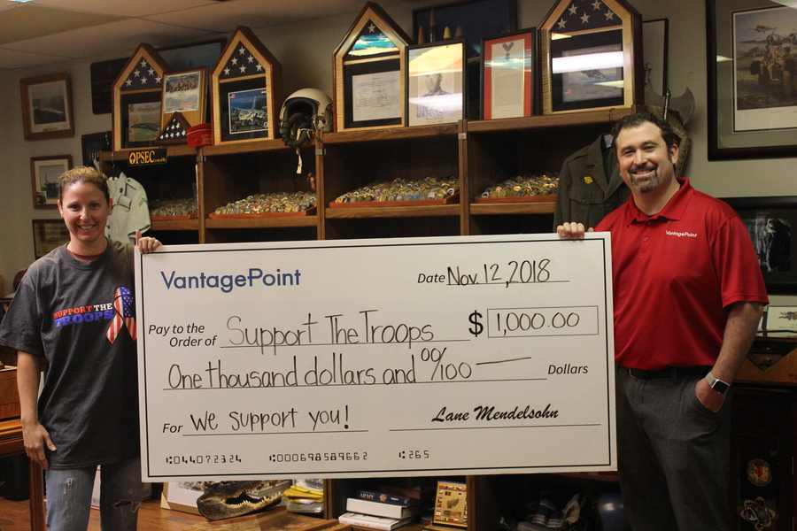 Vantagepoint ai Partnered with Nonprofit Organization Support The Troops to Raise Money for Veterans Day