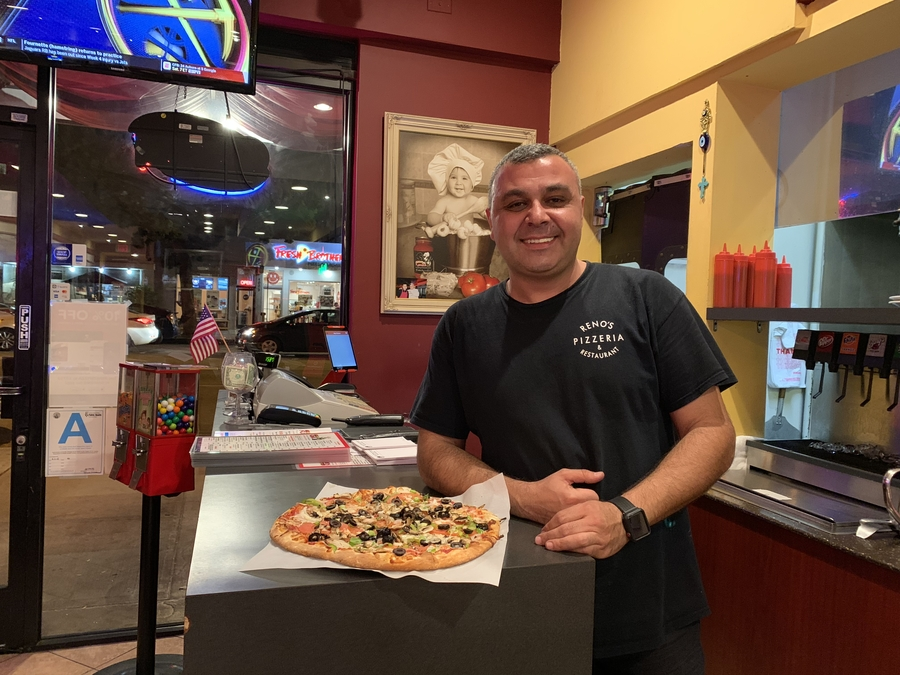 Home of Burbank's Best Pizza, Reno's Pizza, Now Offers Vegan Pizza