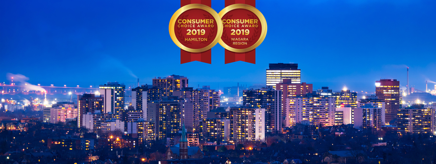 Hamilton & Niagara Region 2019 Consumer Choice Award Winners