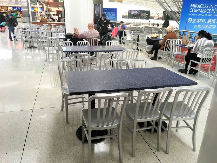 Equip Inc Supplies Food Court Furniture for JFK International Airport