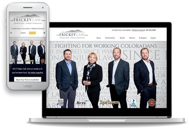 The Frickey Law Firm Launches New Website for Personal Injury and Workers' Compensation Clients throughout the Denver Metro Area