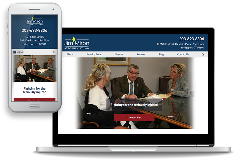 Attorney Jim Miron Launches New Website for Clients in Motor Vehicle Crashes and Other Personal Injury Cases