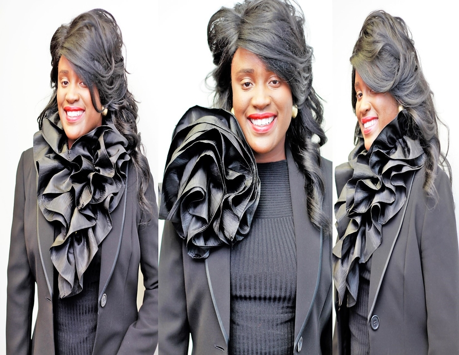 "Give ""10 SECONDS TO FABULOUS!"" with The Scarf Art Detachable Black Ruffle Collar, Now Available on AMAZON.COM"
