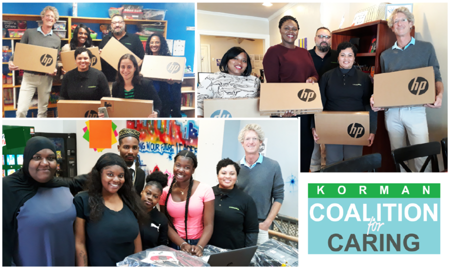 Korman Coalition For Caring Donates $12,000 Worth of Laptops to Homeless Children