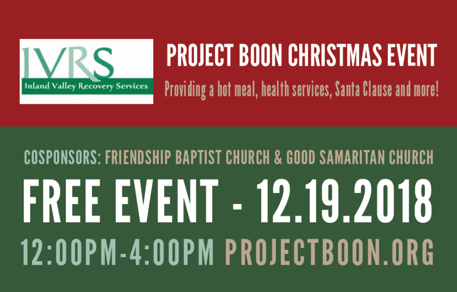Project Boon Partners with Inland Valley Recovery Services (IVRS) To Boost Community Outreach