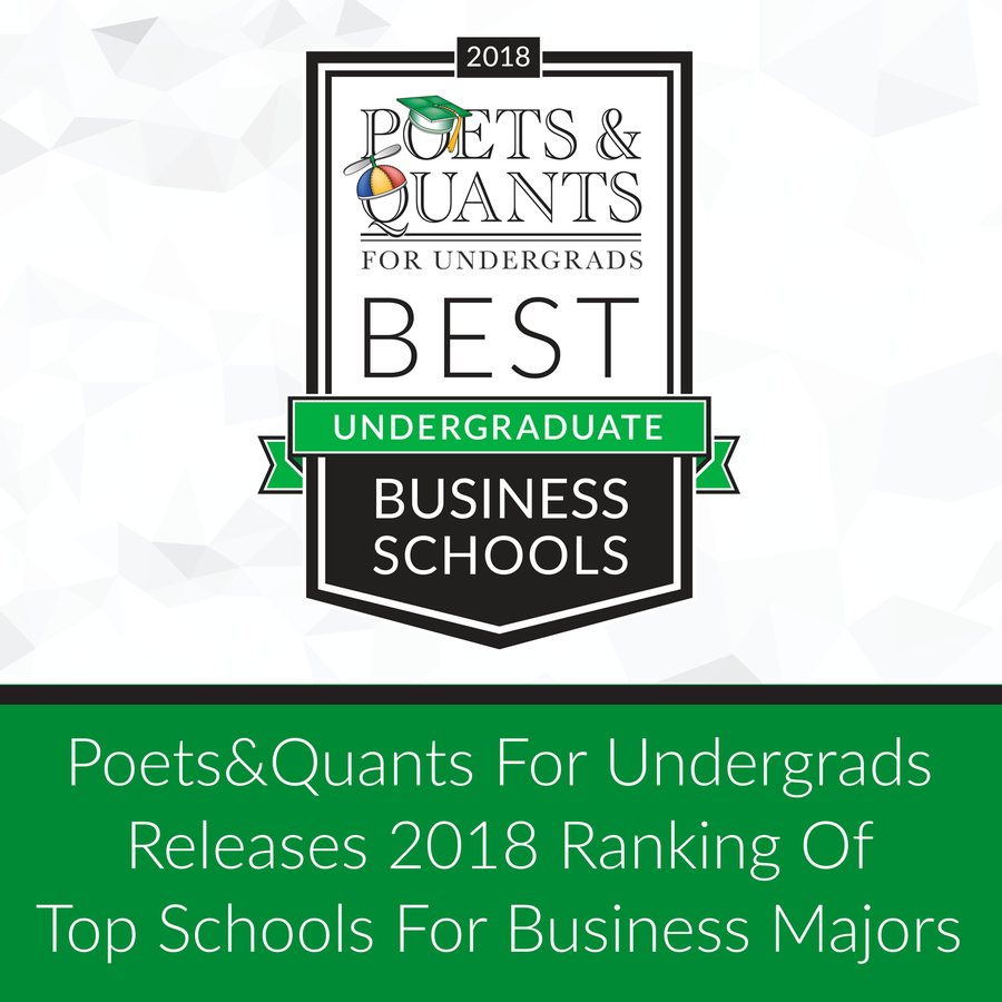 Poets&Quants for UndergradsTM Names Best Undergraduate Business Schools in Exclusive Rankings