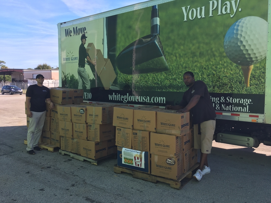 White Glove Moving's Annual Holiday Food Drive Yielded Over A Ton in Non-Perishable Food