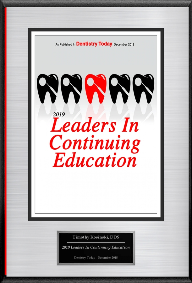 """Timothy Kosinski, DDS Selected For """"2019 Leaders In Continuing Education"""""""