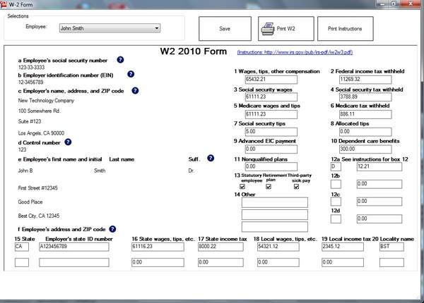 ezW2 Software Offers White Paper Printing Feature to Last Minute W2 Form Filers