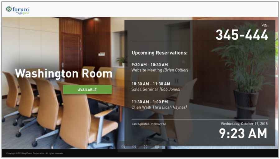 Seamless Meeting Experience Now Possible with AgilQuest Room Booking Software's Integration with Intel Unite® Solution