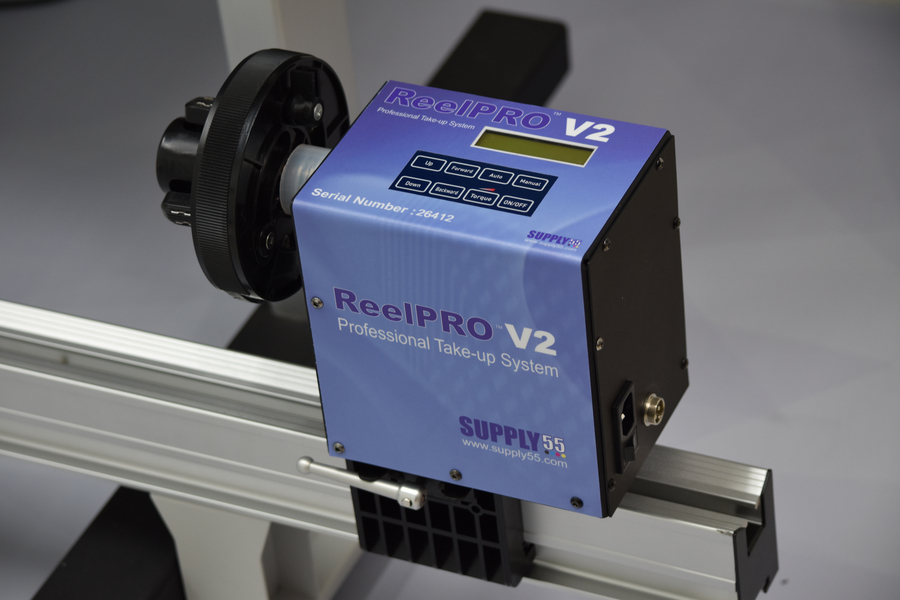 Supply55 releases ReelPRO V2™ a Universal Take-up System for Wide Format Ink Jet Printers and Laminators
