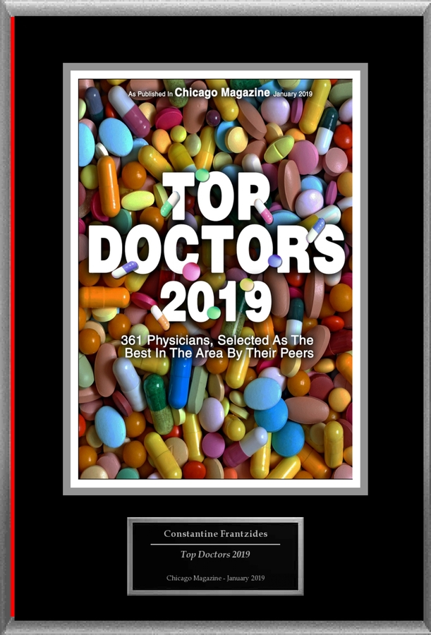 "Constantine Frantzides Selected For ""Top Doctors 2019"""