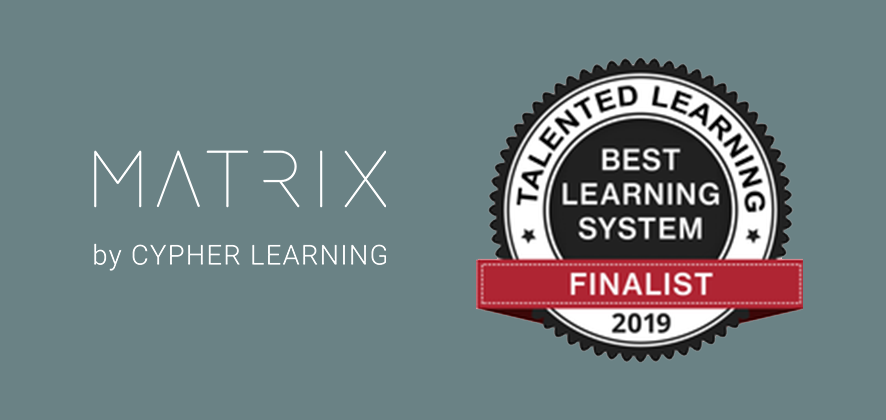 MATRIX LMS Selected as a Finalist for the 2019 Talented Learning Awards