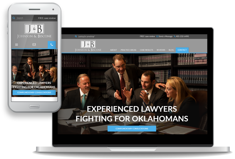Johnson & Biscone Launches New Custom Website for Personal Injury and Workers' Compensation Clients