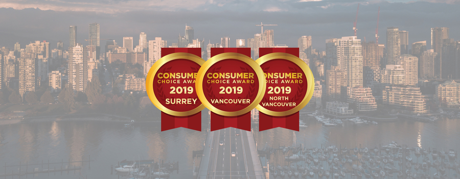 Vancouver & Surrey Region 2019 Consumer Choice Award Winners