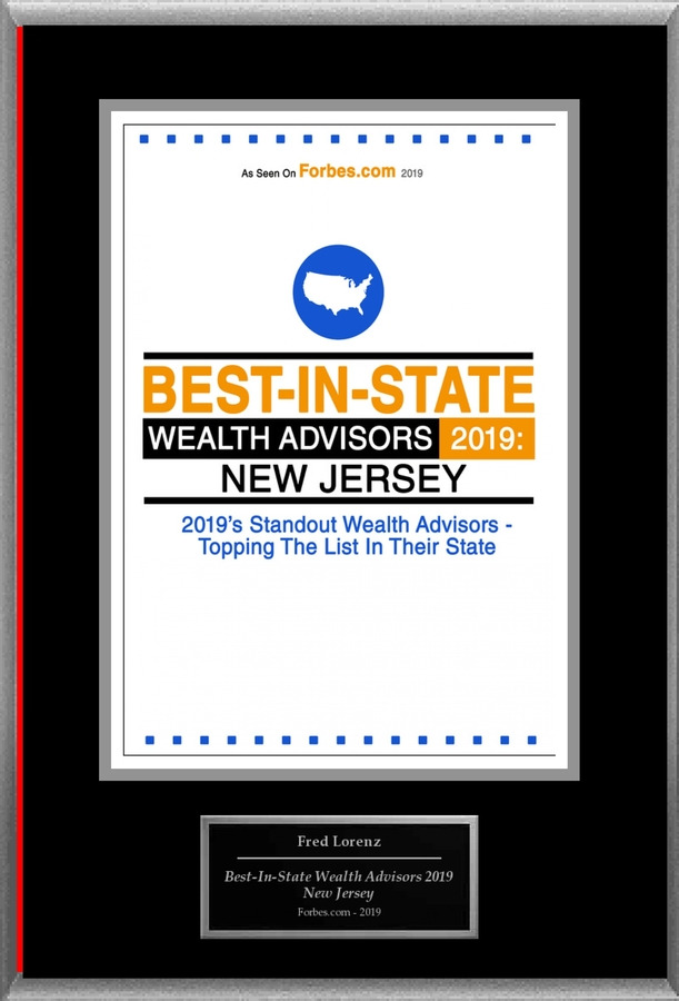 "Fred Lorenz Selected For ""Best-In-State Wealth Advisors 2019: New Jersey"""
