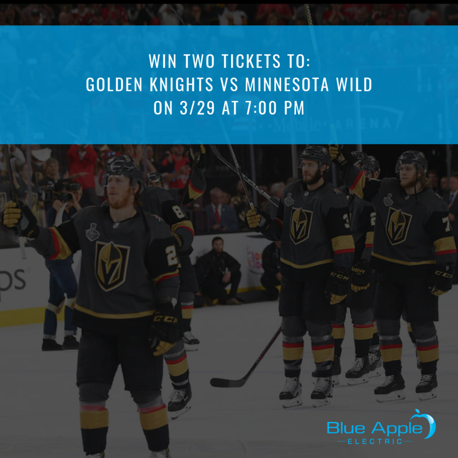 Blue Apple Electric Announces Special Golden Knights Tickets Giveaway