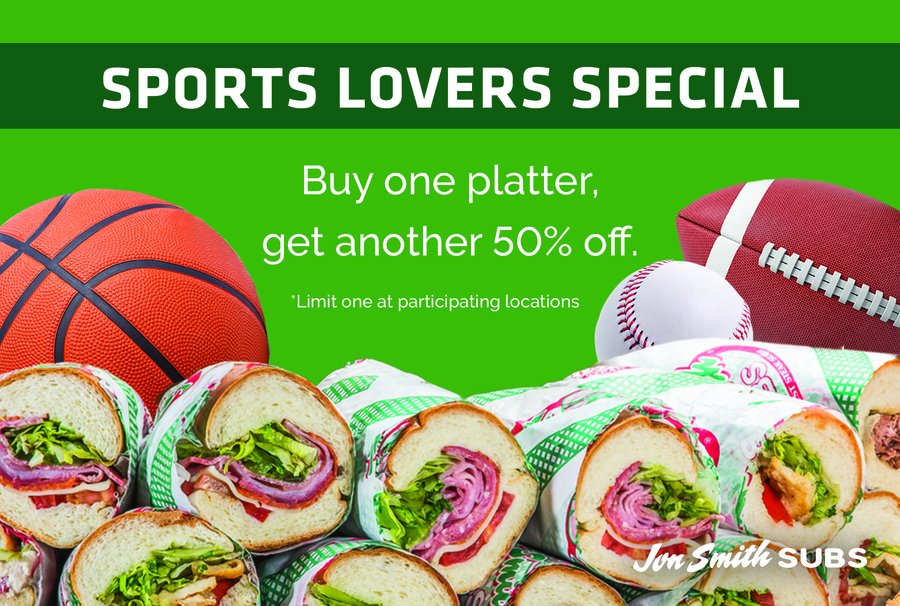 Jon Smith Subs Offers 'Game Day Bundle' Catering Deal in March and April