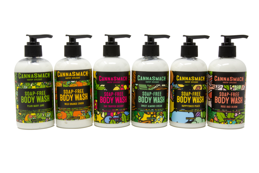 CannaSmack Launches New Luscious Line of Soap-Free Body Washes
