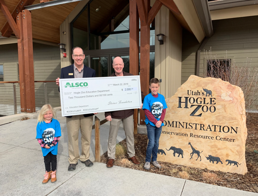 "Alsco Donation Lets Hogle Zoo ""Go Wild"" in Offering More Educational Opportunities to Local Kids"