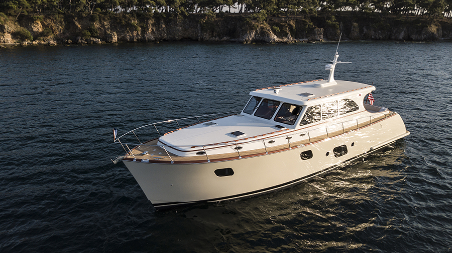 Vicem Yachts 65 IPS Classic on display at Palm Beach International Boat Show 2019